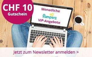 windeln.ch Newsletter Anmeldung