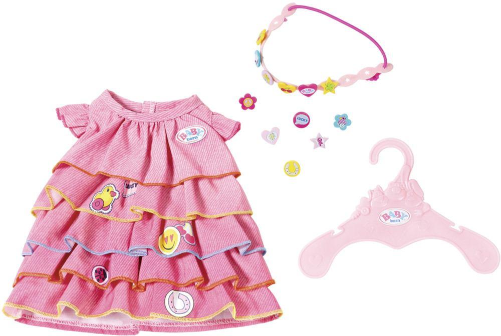 Zapf Creation Baby Born Puppe Kleidung Oberteil Pulli Pullover Shirt rot Babypuppen & Zubehör