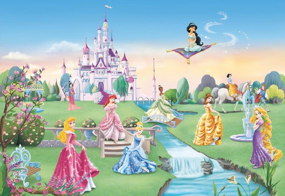 Komar Fototapete Disney Prinzessinnen  Princess Castle, 8 Teile inkl. Kleister