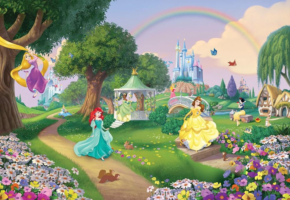Komar Fototapete Disney Prinzessinnen  Disney Princess Rainbow, 8 Teile inkl. Kleister