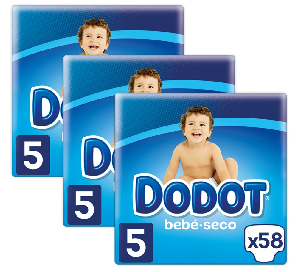 Taille 5 Dodot Pants Couches 12-17 kg Total 93 Couches 3 Couches de 31 Couches